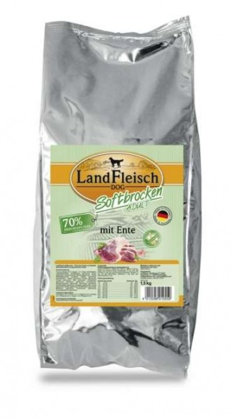 1,5 kg - Landfleisch Softbrocken mit Ente
