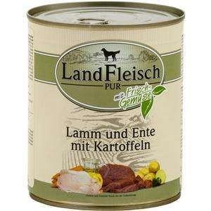 6 x 800 g - Landfleisch Pur Lamm & Ente & Kartoffeln