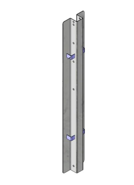Mittelpfosten 82 cm Edelstahl