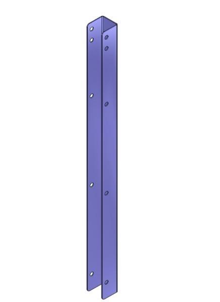 Wandpfosten U-Profil 0,60m hoch
