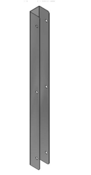 Wandpfosten U-Profil 0,51m hoch