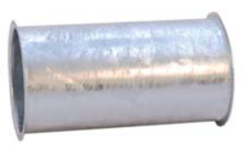 Fallrohr D 150 verzinkt 0,50 m
