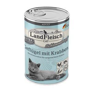 6 x 400 g - Landfleisch Cat Adult Schlemmertopf mit Geflügel & Krabben