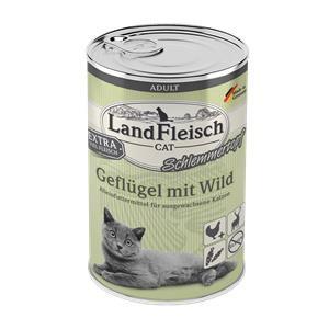 6 x 400 g - Landfleisch Cat Adult Schlemmertopf Geflügel & Wild