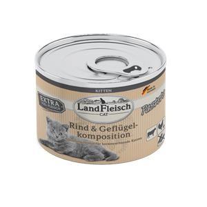 6 x 195 g - Landfleisch Cat Kitten Pastete Rind & Geflügelkomposition