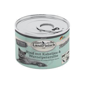 6 x 195 g - Landfleisch Cat Adult Pastete Rind, Kabeljau, Wurzelpetersilie