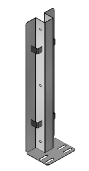 Mittelpfosten U-Profil 0,51m hoch