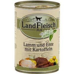 12 x 400 g - Landfleisch Pur Lamm & Ente & Kartoffeln