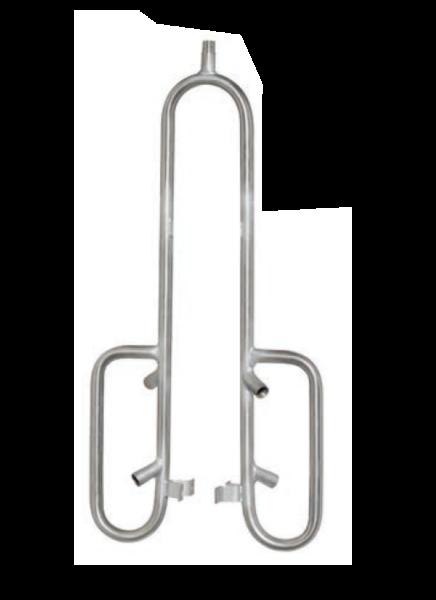 Tränkerohr mit Schutzbügel Doppelt
