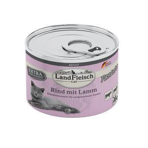 6 x 195 g - Landfleisch Cat Adult Pastete Rind & Lamm