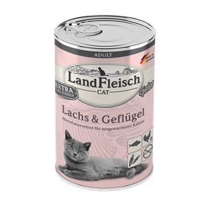 6 x 400 g - Landfleisch Cat Adult Gelee mit Lachs & Geflügel