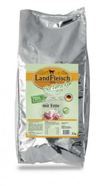 5 kg - Landfleisch Softbrocken mit Ente