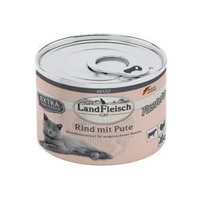 6 x 195g - Landfleisch Cat Adult Pastete Rind & Pute