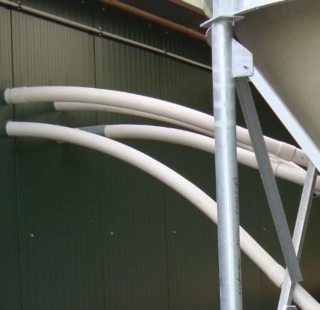 Rohrbogen PVC 90 mm, 45° für Spirale